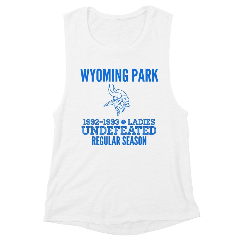 Wyoming Park 92-93 Undefeated Ladies Bball Blue Women's Tank by Elevation Wyoming