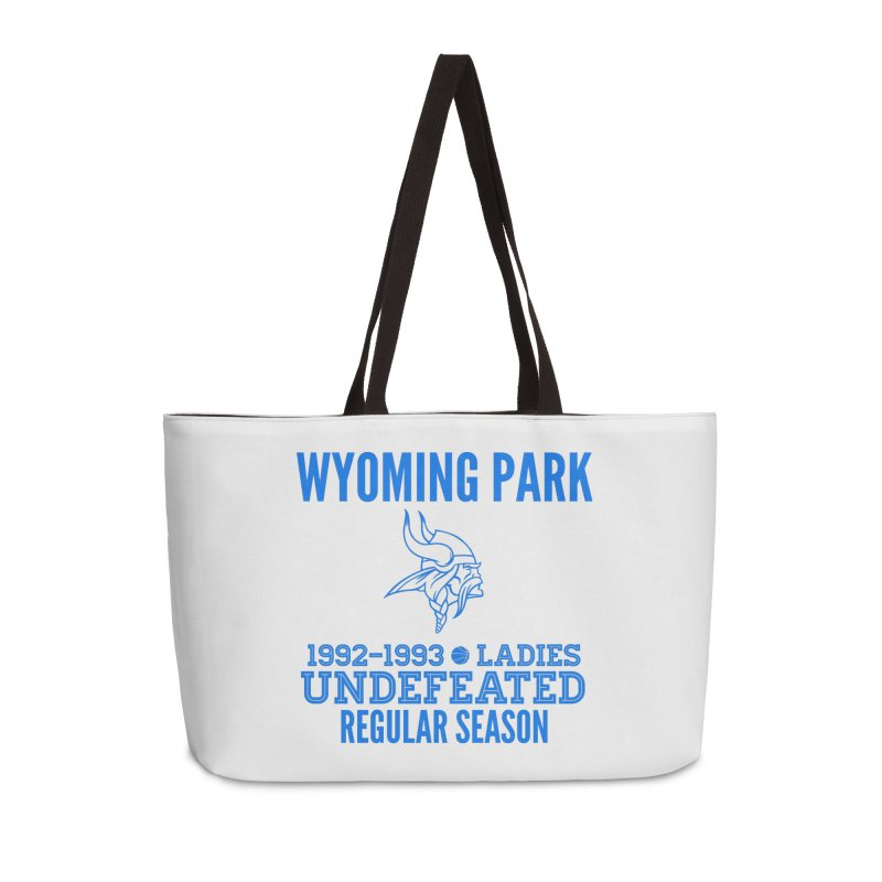 Wyoming Park 92-93 Undefeated Ladies Bball Blue Accessories Weekender Bag Bag by Elevation Wyoming