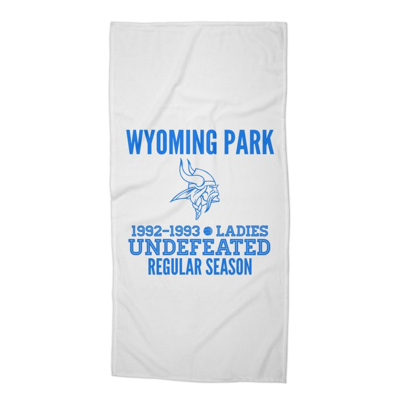 Wyoming Park 92-93 Undefeated Ladies Bball Blue Accessories Beach Towel by Elevation Wyoming