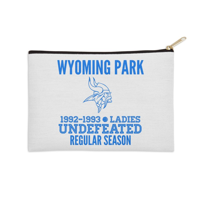 Wyoming Park 92-93 Undefeated Ladies Bball Blue Accessories Zip Pouch by Elevation Wyoming
