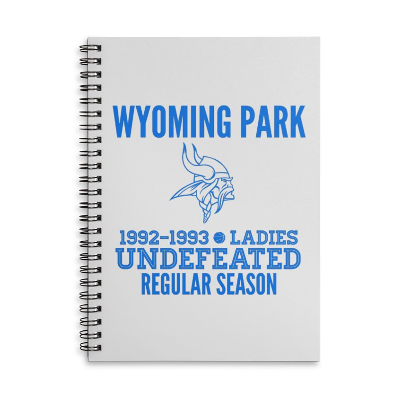 Wyoming Park 92-93 Undefeated Ladies Bball Blue Accessories Lined Spiral Notebook by Elevation Wyoming