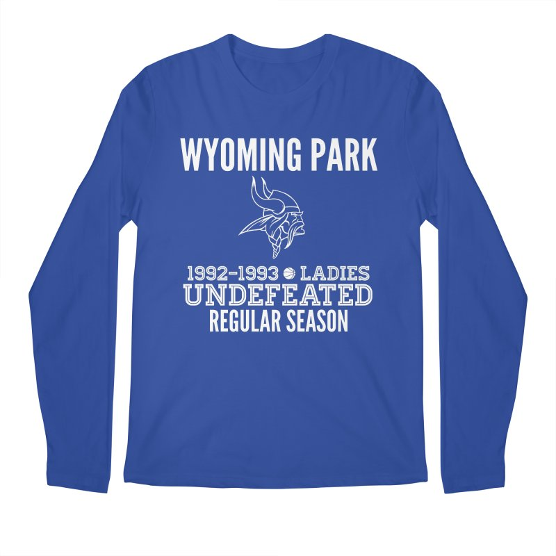 Wyoming Park 92-93 Undefeated Ladies Bball white Men's Regular Longsleeve T-Shirt by Elevation Wyoming