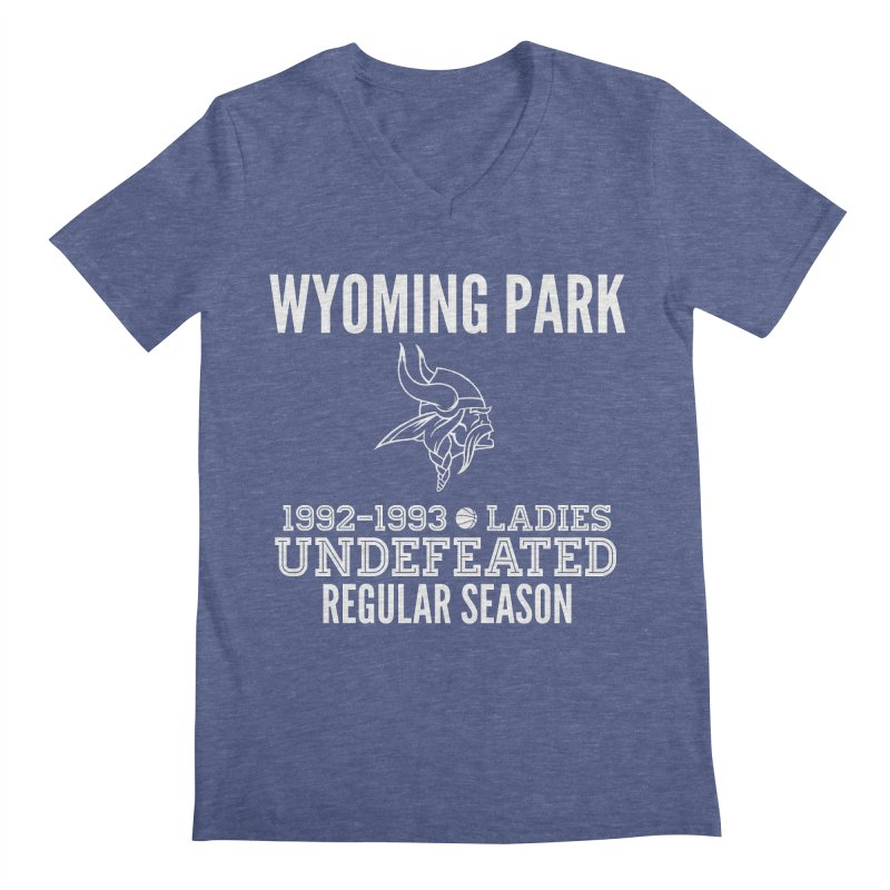 Wyoming Park 92-93 Undefeated Ladies Bball white Men's V-Neck by Elevation Wyoming