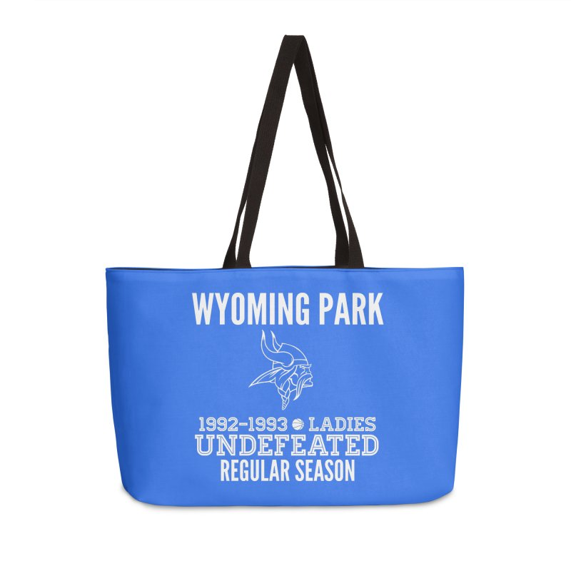 Wyoming Park 92-93 Undefeated Ladies Bball white Accessories Weekender Bag Bag by Elevation Wyoming