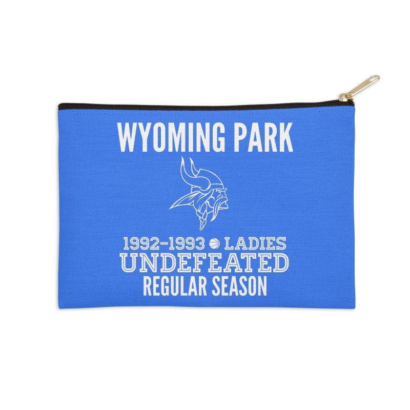 Wyoming Park 92-93 Undefeated Ladies Bball white Accessories Zip Pouch by Elevation Wyoming