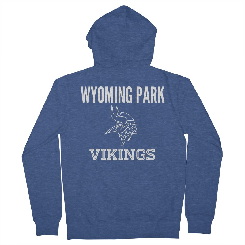 Wyoming Park Viking White Men's Zip-Up Hoody by Elevation Wyoming