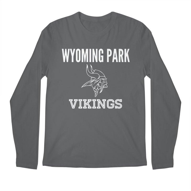 Wyoming Park Viking White Men's Longsleeve T-Shirt by Elevation Wyoming