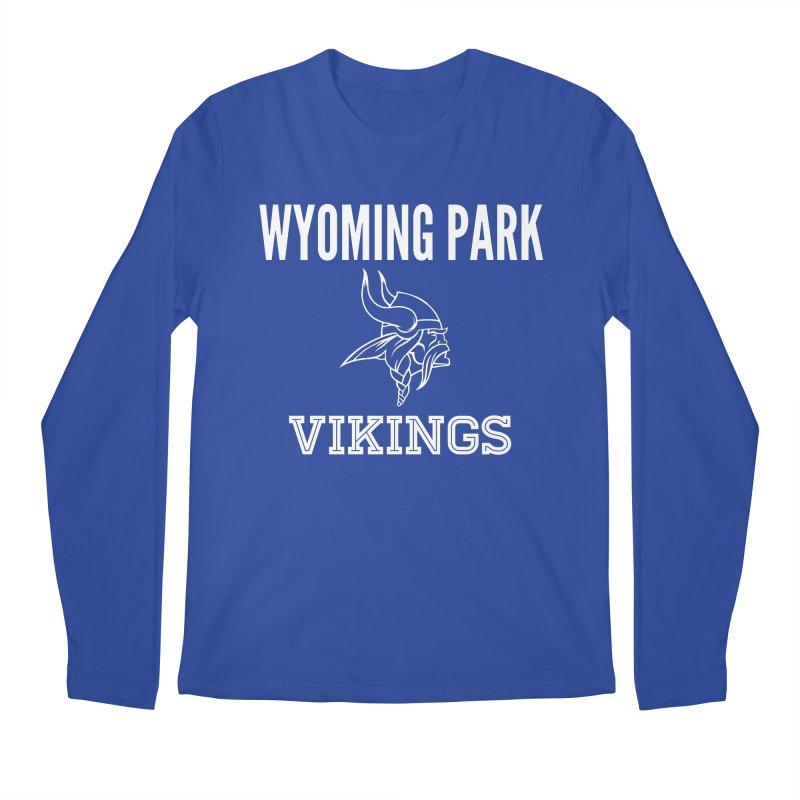 Wyoming Park Viking White Men's Regular Longsleeve T-Shirt by Elevation Wyoming