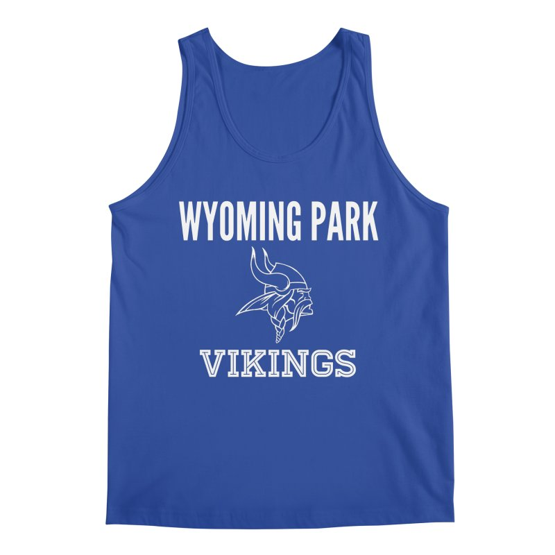 Wyoming Park Viking White Men's Tank by Elevation Wyoming