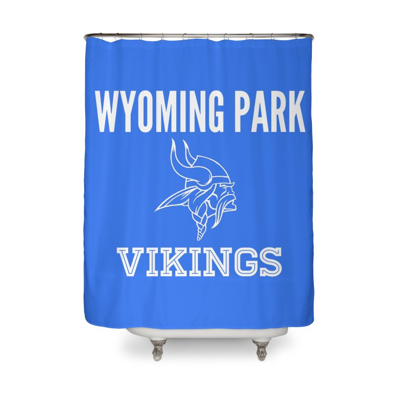 Wyoming Park Viking White Home Shower Curtain by Elevation Wyoming