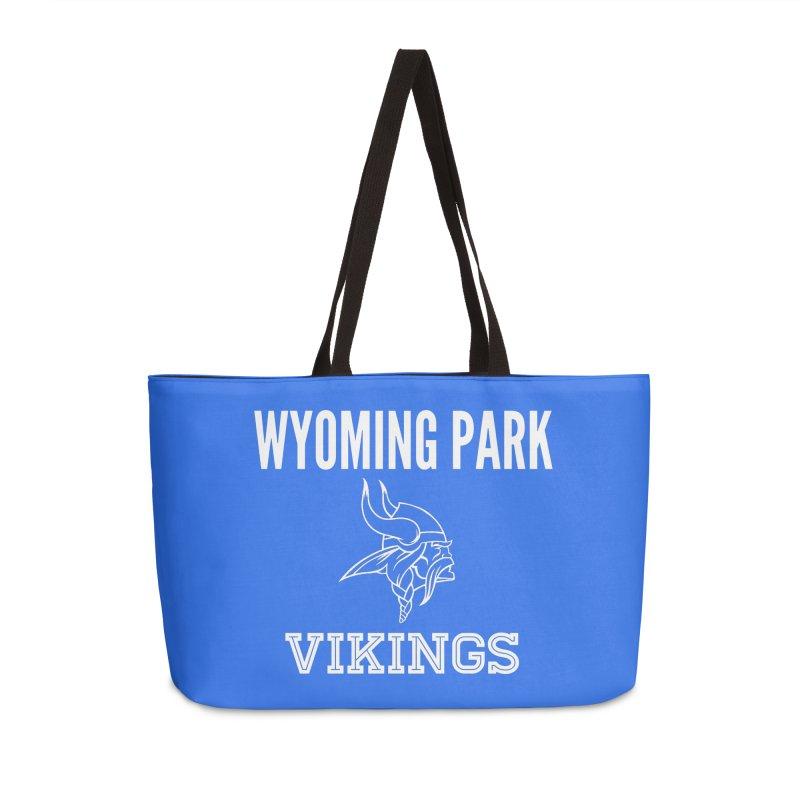 Wyoming Park Viking White Accessories Weekender Bag Bag by Elevation Wyoming
