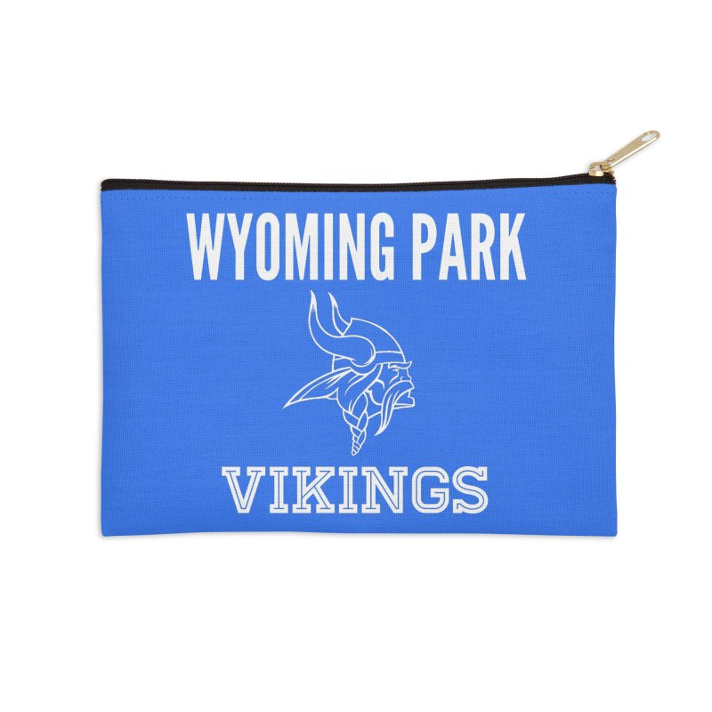 Wyoming Park Viking White Accessories Zip Pouch by Elevation Wyoming