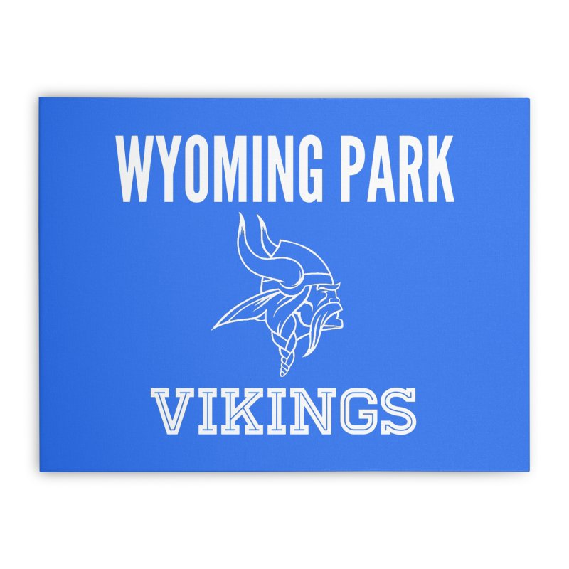 Wyoming Park Viking White Home Stretched Canvas by Elevation Wyoming