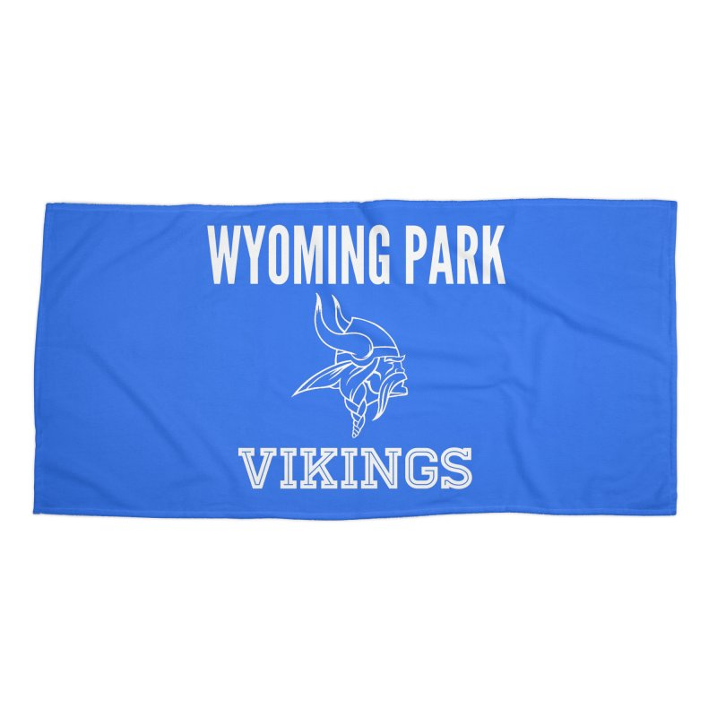 Wyoming Park Viking White Accessories Beach Towel by Elevation Wyoming