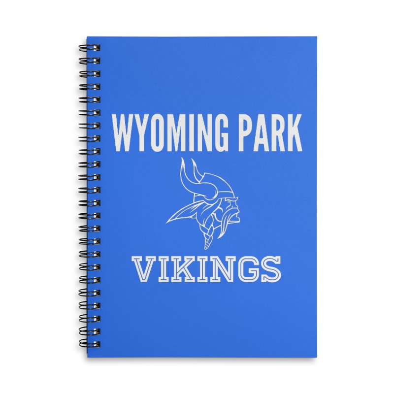 Wyoming Park Viking White Accessories Lined Spiral Notebook by Elevation Wyoming