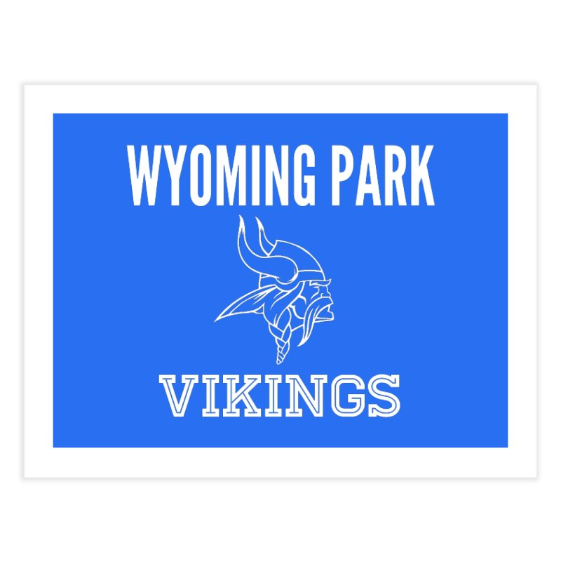 Wyoming Park Viking White Home Fine Art Print by Elevation Wyoming
