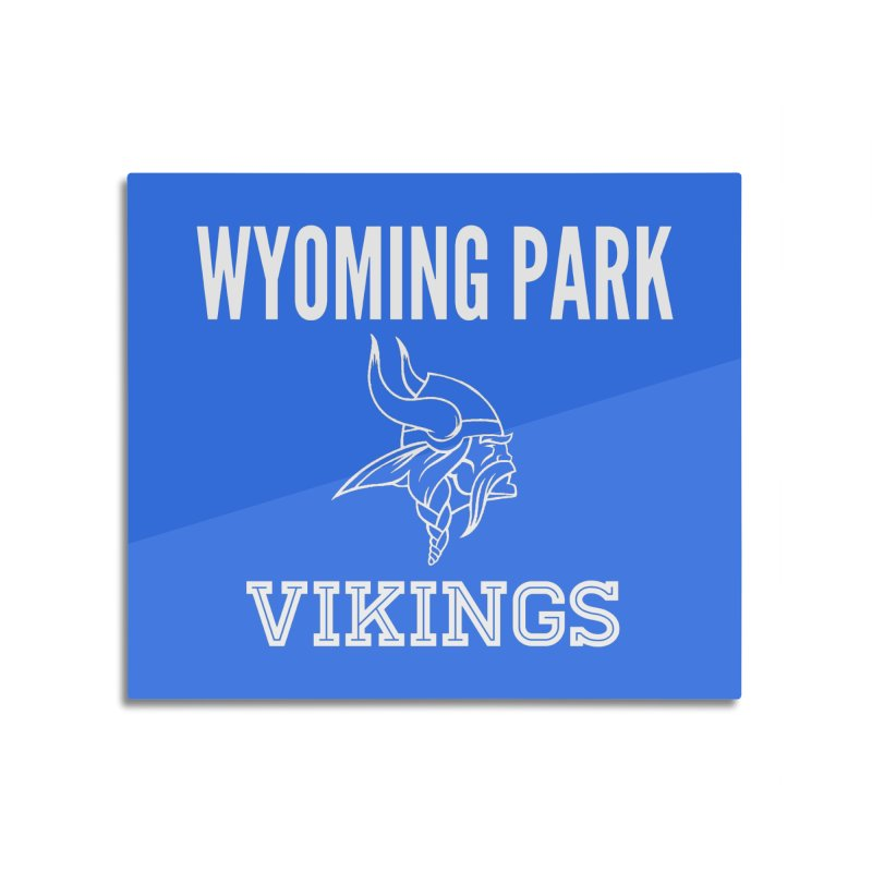Wyoming Park Viking White Home Mounted Acrylic Print by Elevation Wyoming