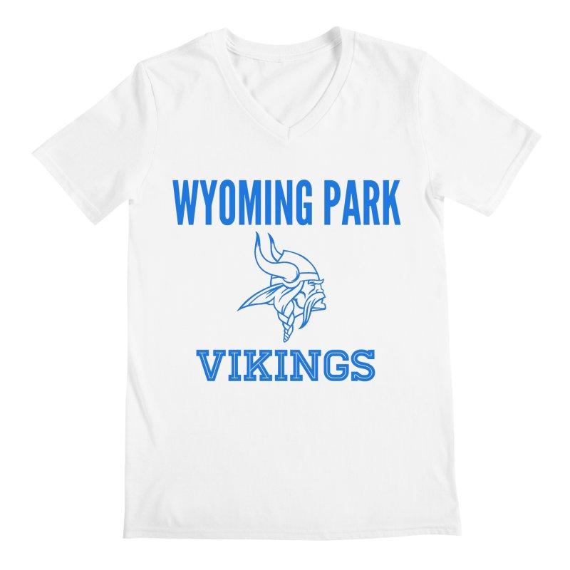 Wyoming Park Vikings Blue Men's V-Neck by Elevation Wyoming