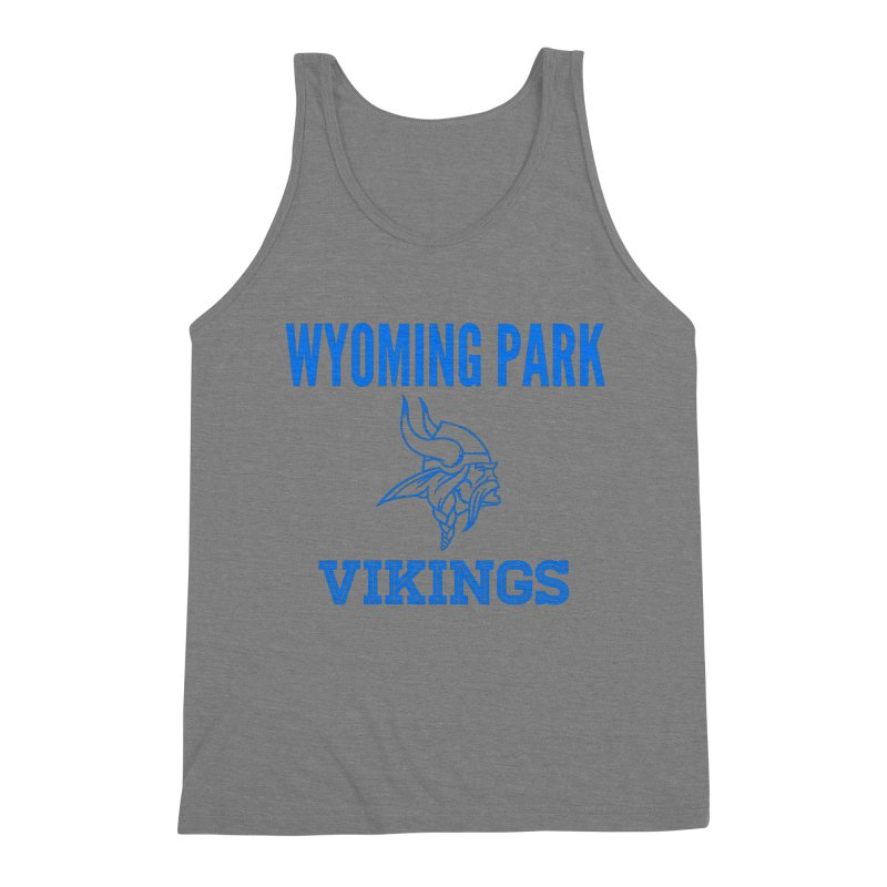 Wyoming Park Vikings Blue Men's Tank by Elevation Wyoming