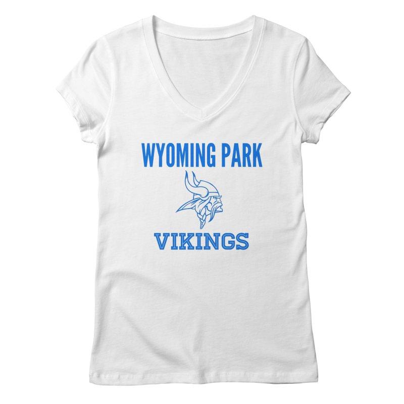 Wyoming Park Vikings Blue Women's Regular V-Neck by Elevation Wyoming