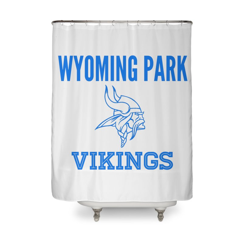 Wyoming Park Vikings Blue Home Shower Curtain by Elevation Wyoming