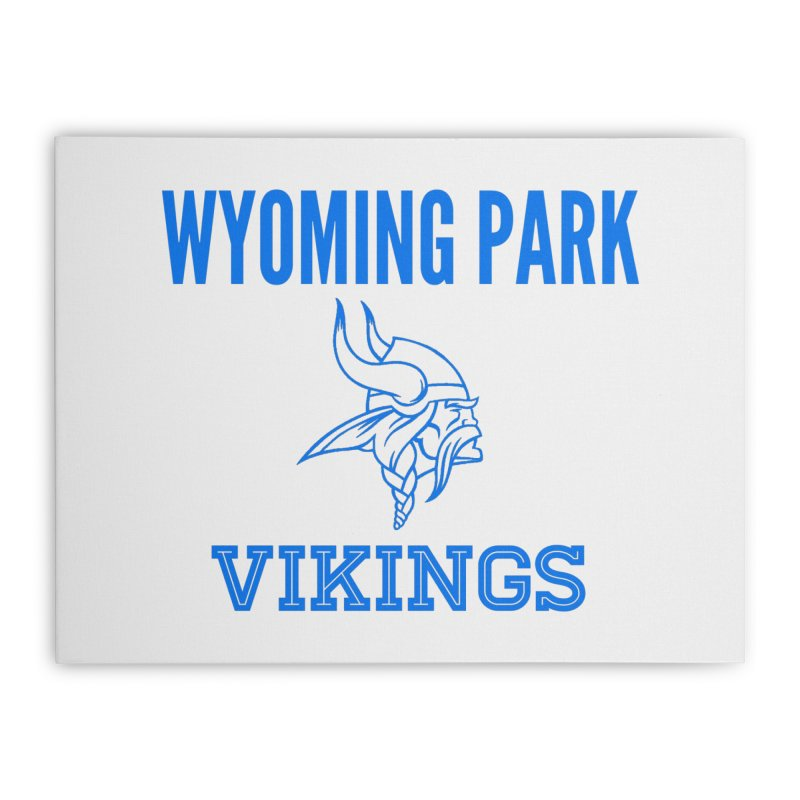 Wyoming Park Vikings Blue Home Stretched Canvas by Elevation Wyoming