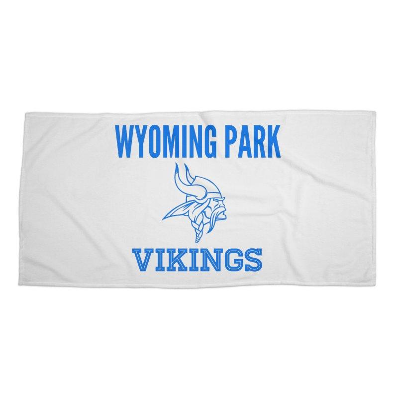 Wyoming Park Vikings Blue Accessories Beach Towel by Elevation Wyoming