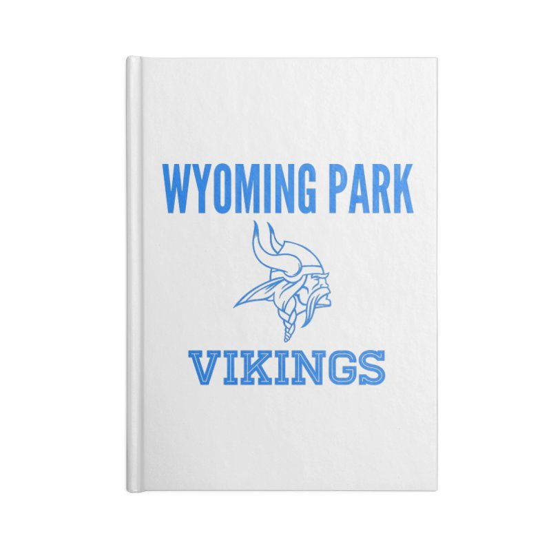 Wyoming Park Vikings Blue Accessories Blank Journal Notebook by Elevation Wyoming