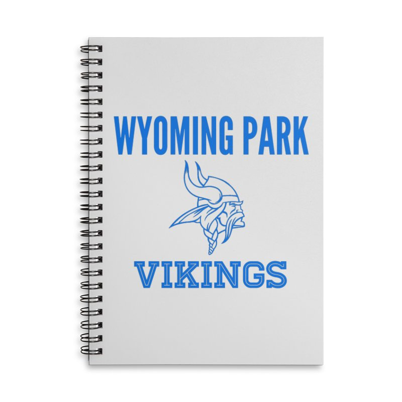 Wyoming Park Vikings Blue Accessories Lined Spiral Notebook by Elevation Wyoming