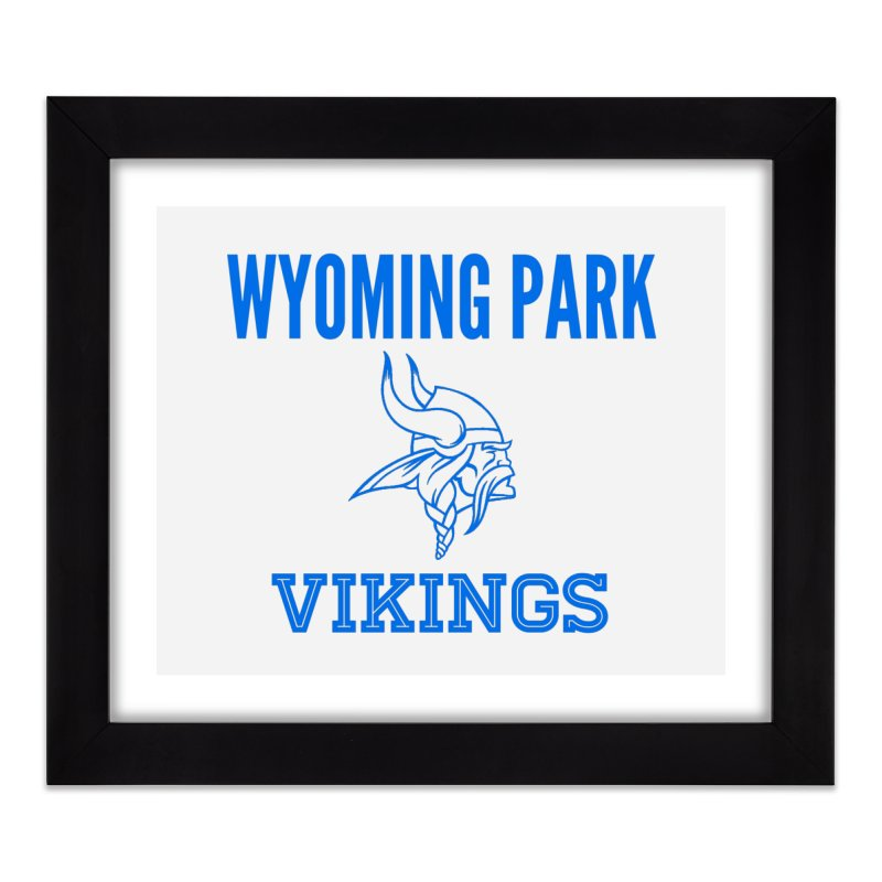 Wyoming Park Vikings Blue Home Framed Fine Art Print by Elevation Wyoming