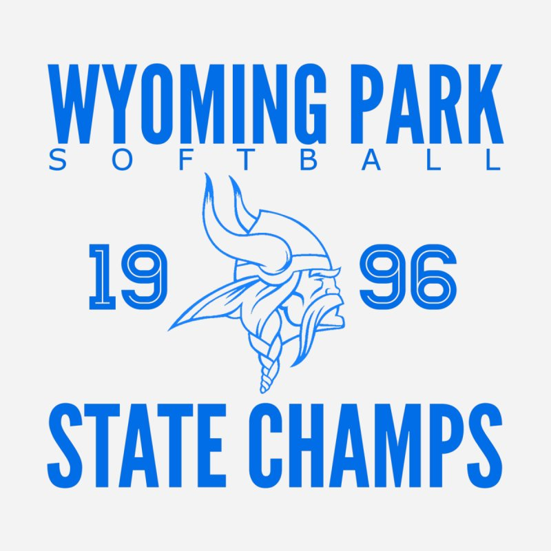 Wyoming Park 1996 Softball State Champs Blue Women's Tank by Elevation Wyoming