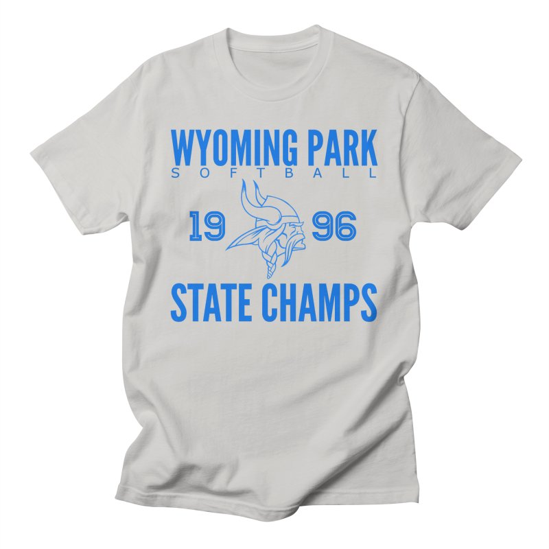 Wyoming Park 1996 Softball State Champs Blue Men's T-Shirt by Elevation Wyoming