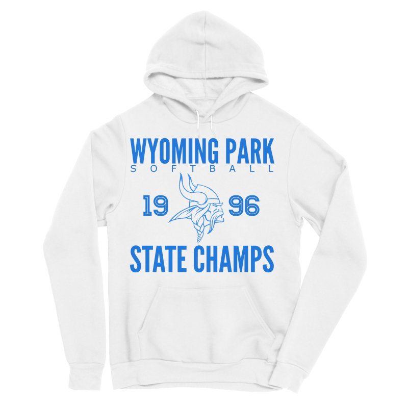 Wyoming Park 1996 Softball State Champs Blue Men's Sponge Fleece Pullover Hoody by Elevation Wyoming