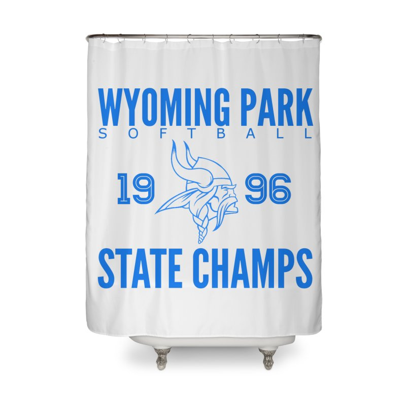 Wyoming Park 1996 Softball State Champs Blue Home Shower Curtain by Elevation Wyoming