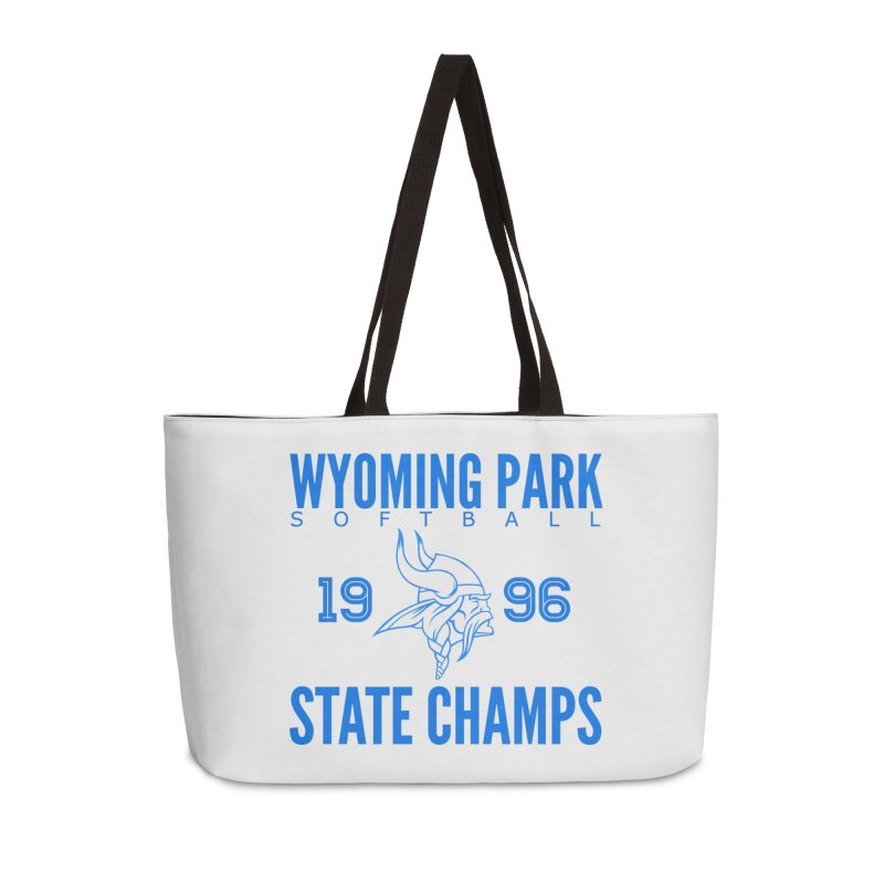 Wyoming Park 1996 Softball State Champs Blue Accessories Bag by Elevation Wyoming