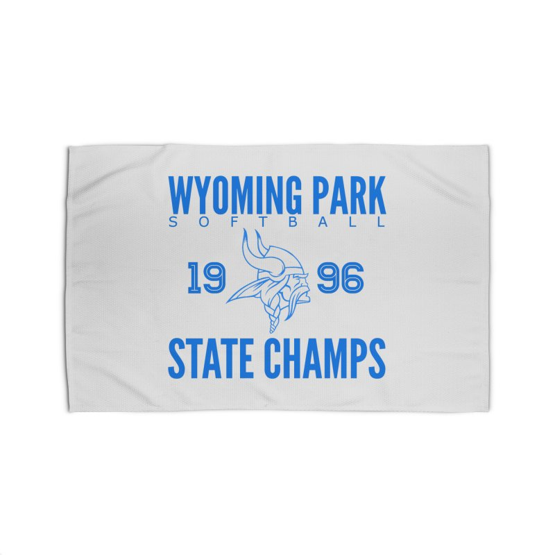 Wyoming Park 1996 Softball State Champs Blue Home Rug by Elevation Wyoming