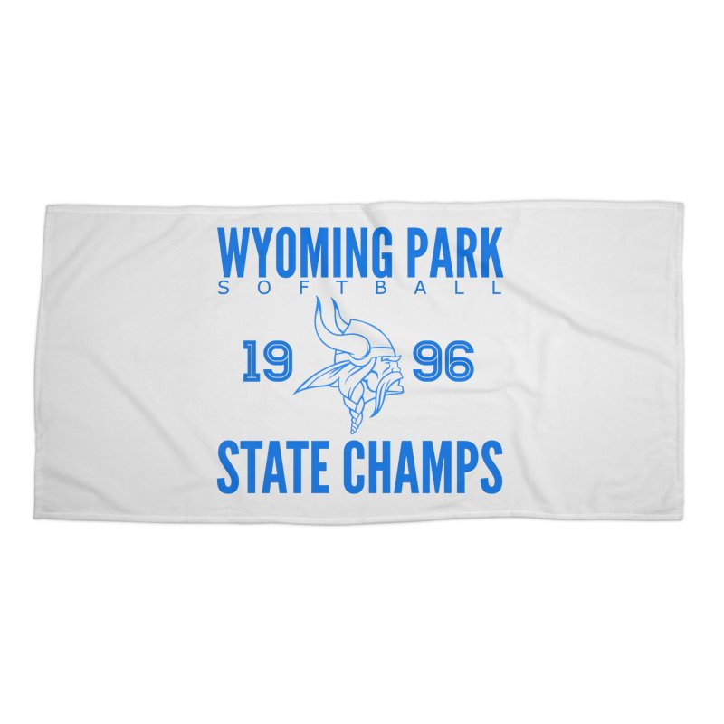 Wyoming Park 1996 Softball State Champs Blue Accessories Beach Towel by Elevation Wyoming