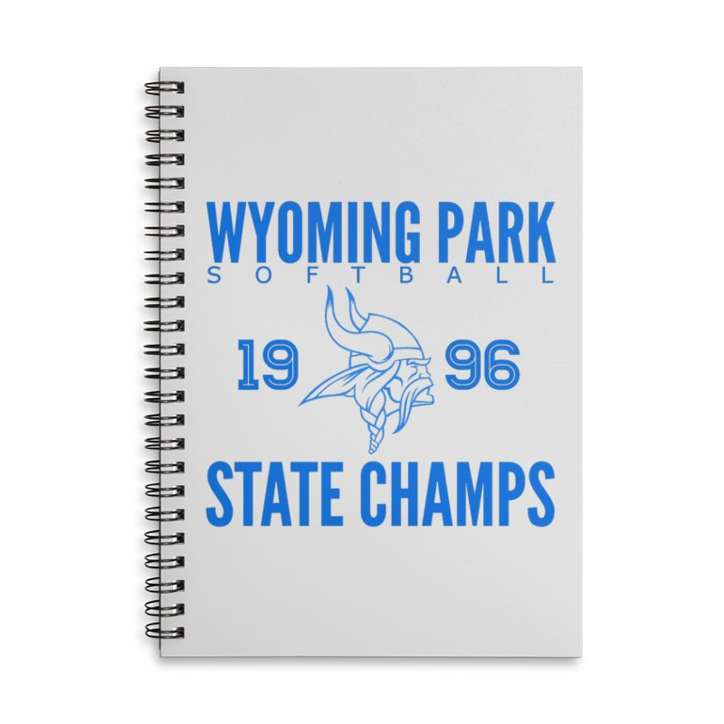 Wyoming Park 1996 Softball State Champs Blue Accessories Lined Spiral Notebook by Elevation Wyoming