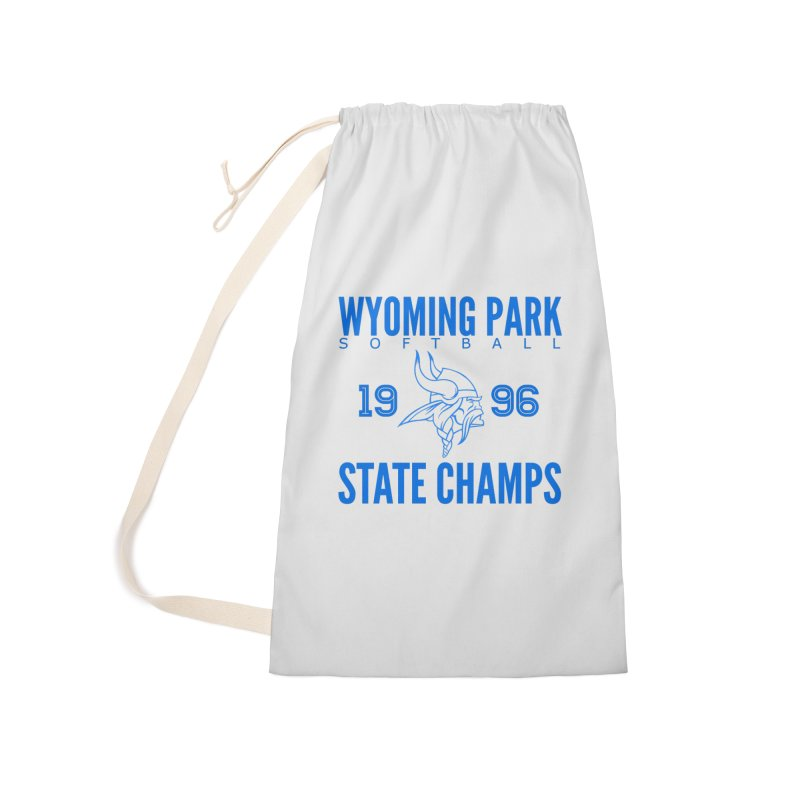 Wyoming Park 1996 Softball State Champs Blue Accessories Laundry Bag Bag by Elevation Wyoming