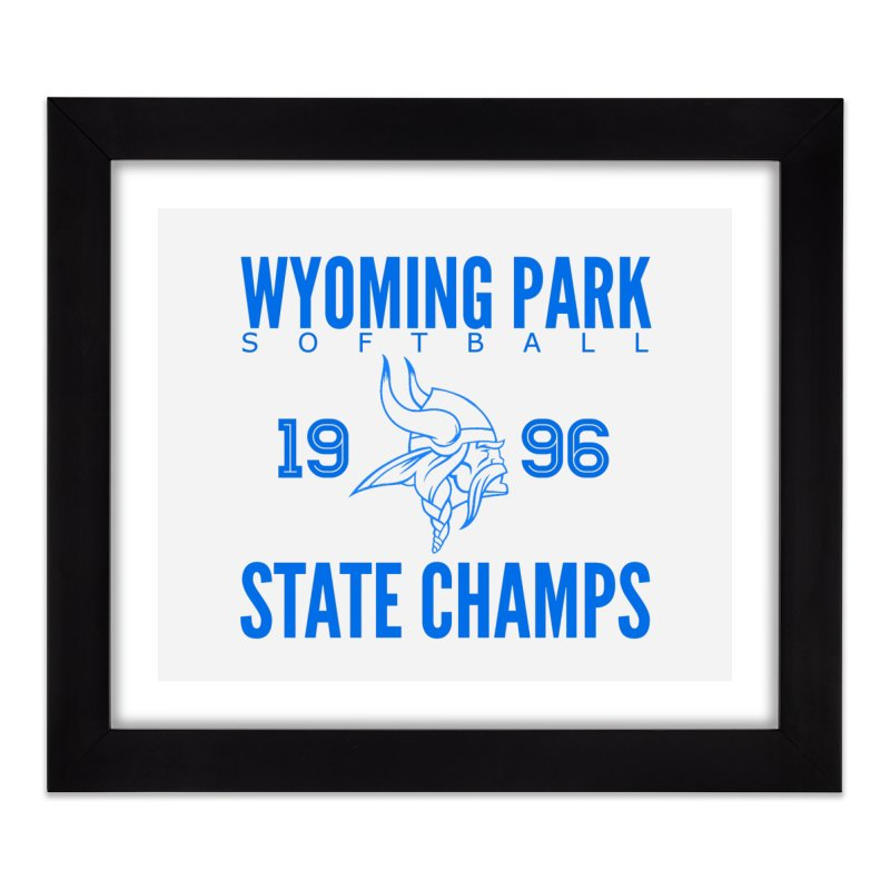 Wyoming Park 1996 Softball State Champs Blue Home Framed Fine Art Print by Elevation Wyoming