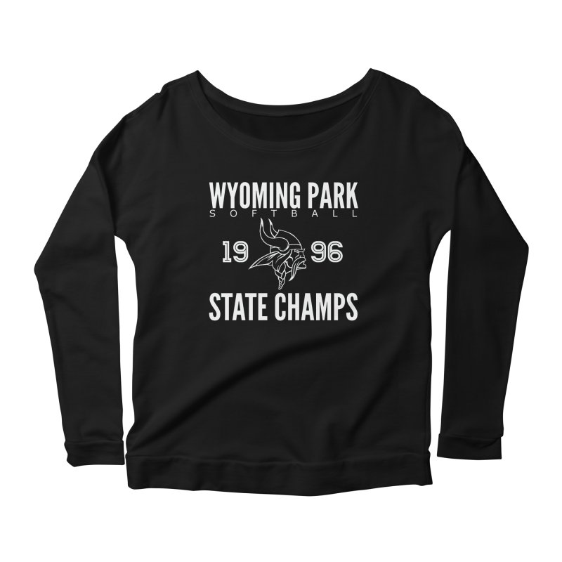 Wyoming Park 1996 Softball State Champs Women's Scoop Neck Longsleeve T-Shirt by Elevation Wyoming