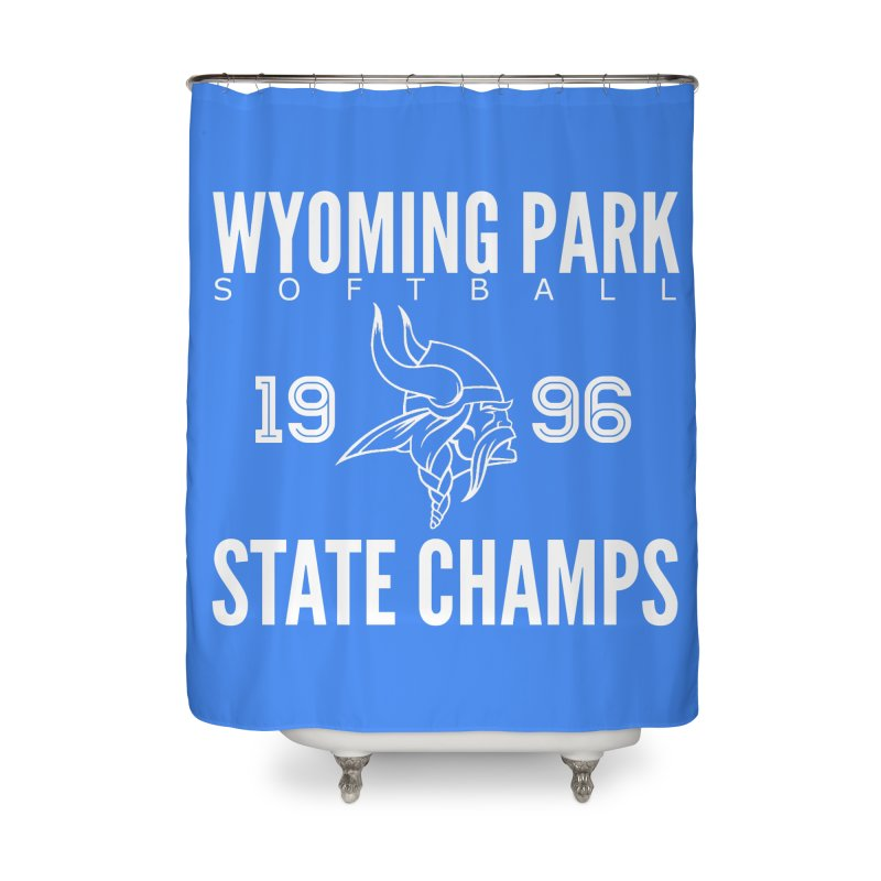 Wyoming Park 1996 Softball State Champs Home Shower Curtain by Elevation Wyoming