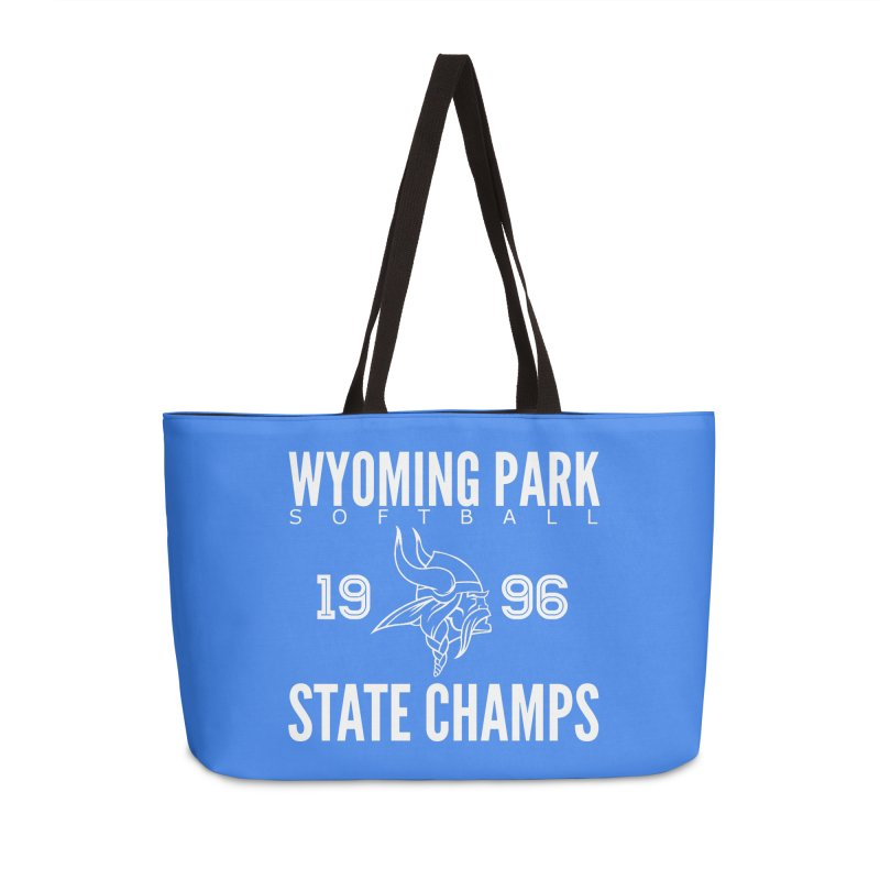 Wyoming Park 1996 Softball State Champs Accessories Weekender Bag Bag by Elevation Wyoming