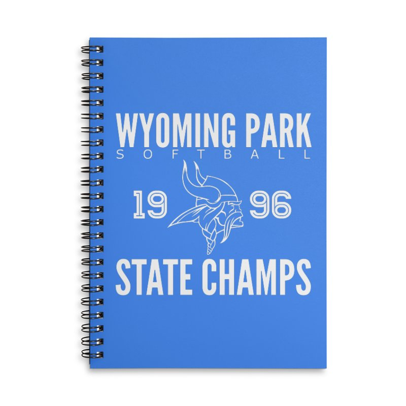Wyoming Park 1996 Softball State Champs Accessories Lined Spiral Notebook by Elevation Wyoming