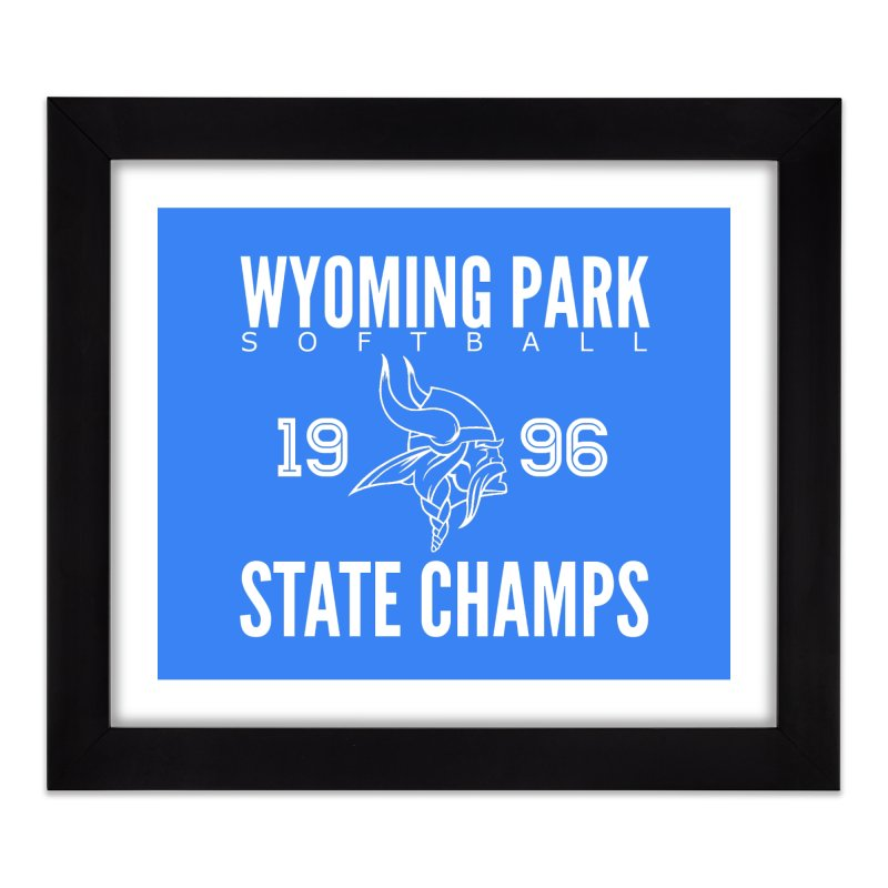 Wyoming Park 1996 Softball State Champs Home Framed Fine Art Print by Elevation Wyoming