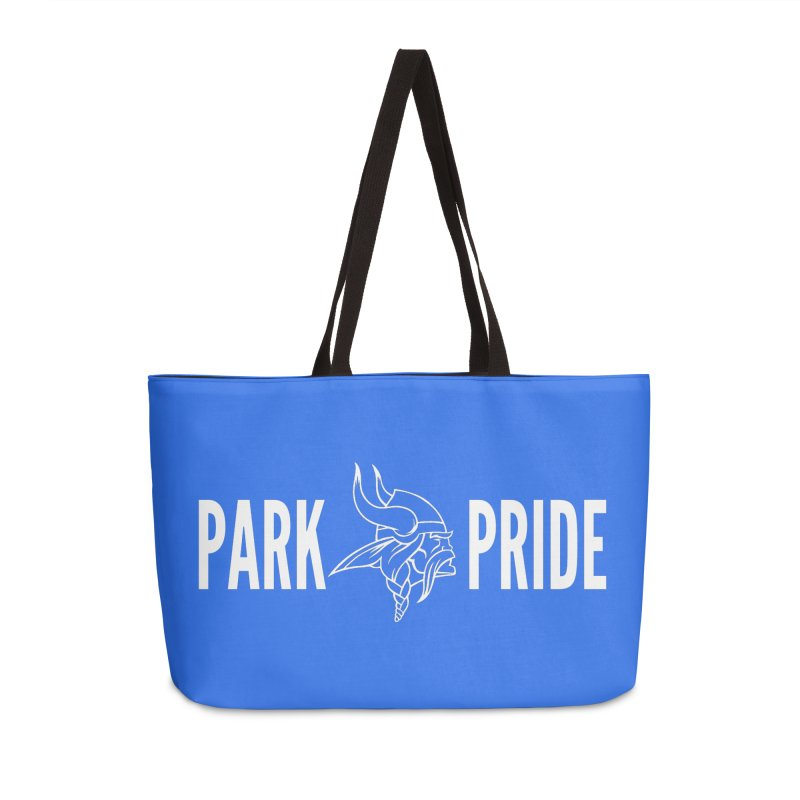 Park Pride White Accessories Weekender Bag Bag by Elevation Wyoming
