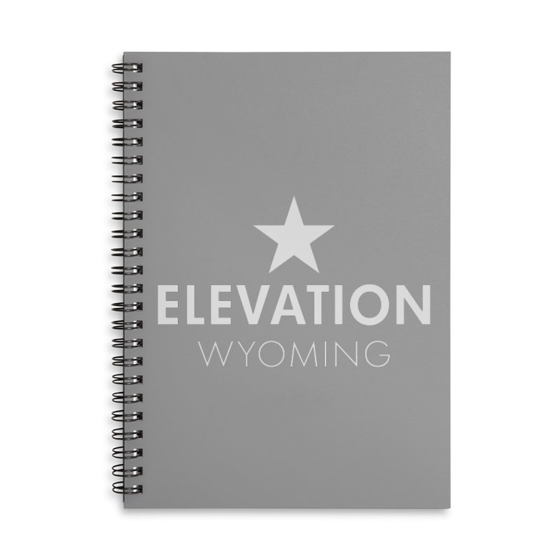 Elevation Wyoming 2019 Accessories Lined Spiral Notebook by Elevation Wyoming