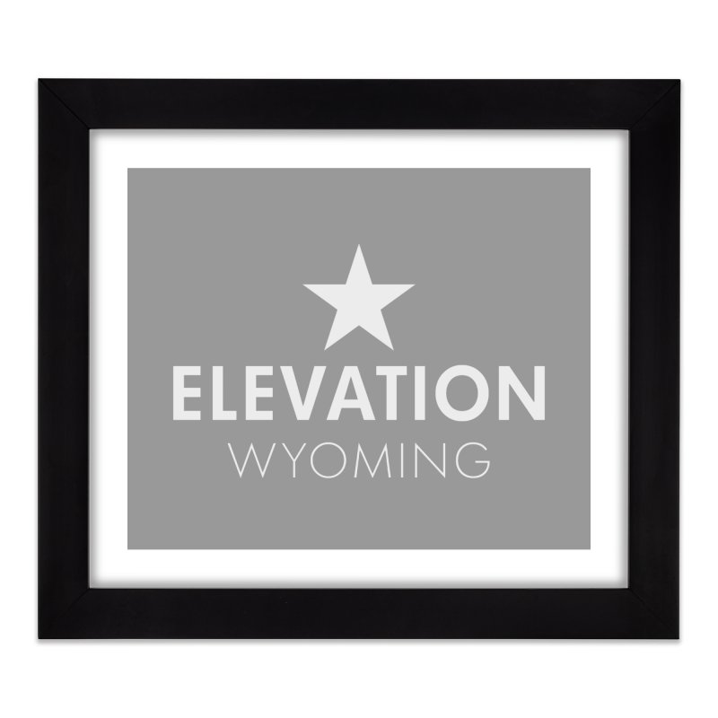 Elevation Wyoming 2019 Home Framed Fine Art Print by Elevation Wyoming
