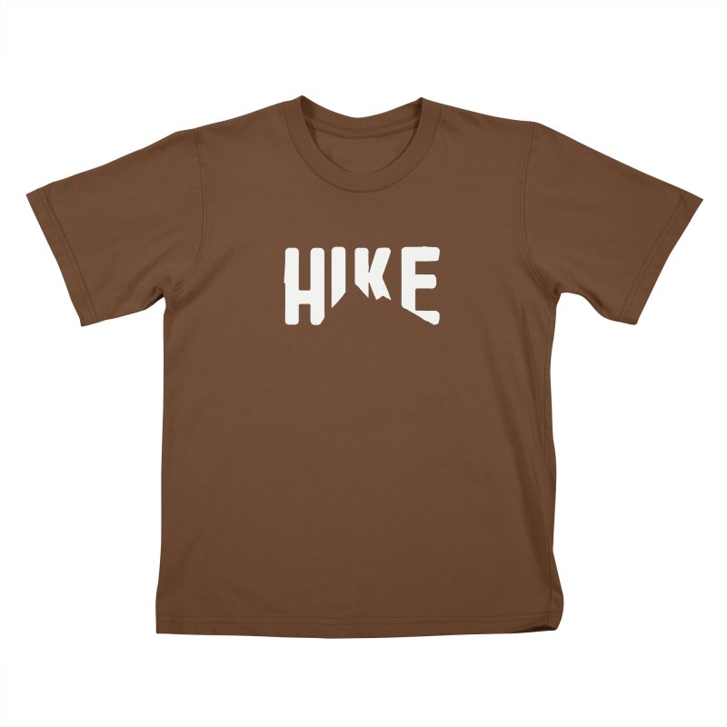 Hike Mountains Kids T-Shirt by eleven