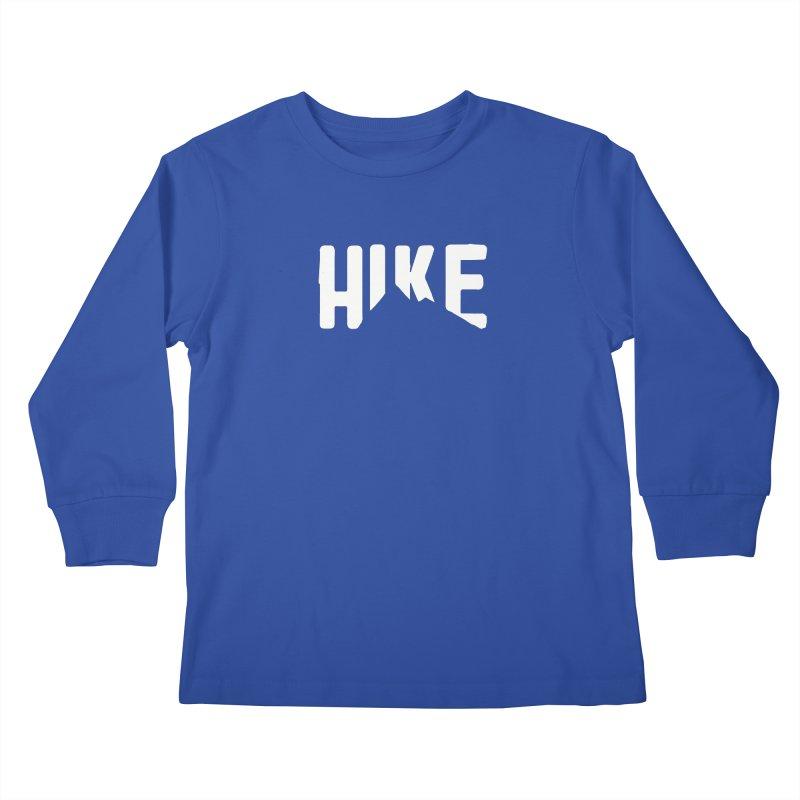 Hike Mountains Kids Longsleeve T-Shirt by eleven